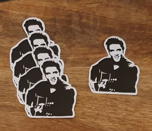 Elvis style sticker PACK OF 5 laptop Bumper Decal Band Rock