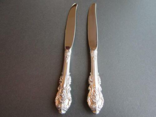"""WALLACE SIR CHRISTOPHER STERLING SILVER FLATWARE 2 DINNER KNIVES 9 1/8""""LOTB-EXCL"""