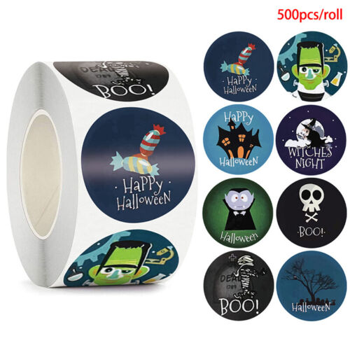 500pc Halloween Vampire Round Stickers Envelope Sealing Labels Candy Bag Stic-xp