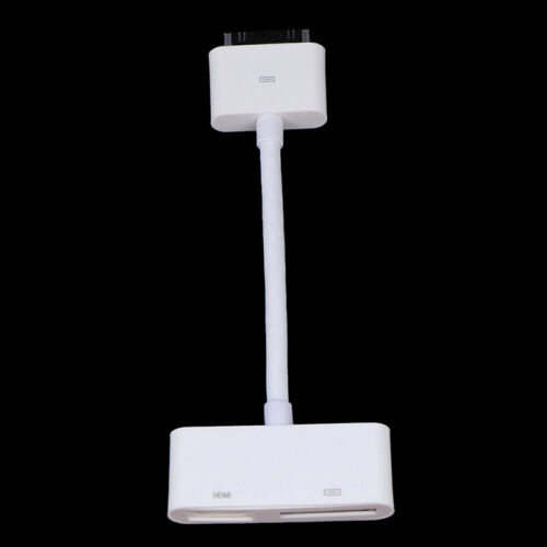 30-Pin to HDMI Video Adapter For iPod i Pad 2 3 iPhone 4 4s 2g 3gsTouch HDT  JR
