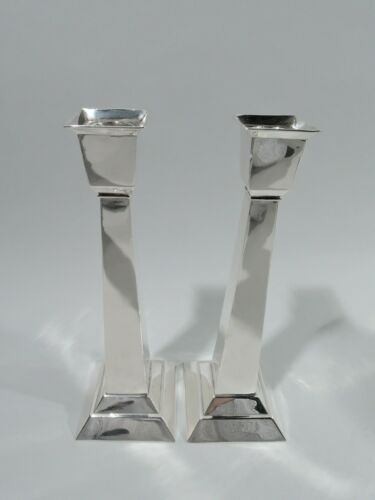 Kalo Candlesticks - R699 - Antique Classical Pair - American Sterling Silver
