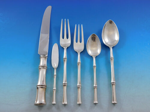 Bamboo by Tiffany & Co. Sterling Silver Flatware Set 12 Service 74 pcs Dinner