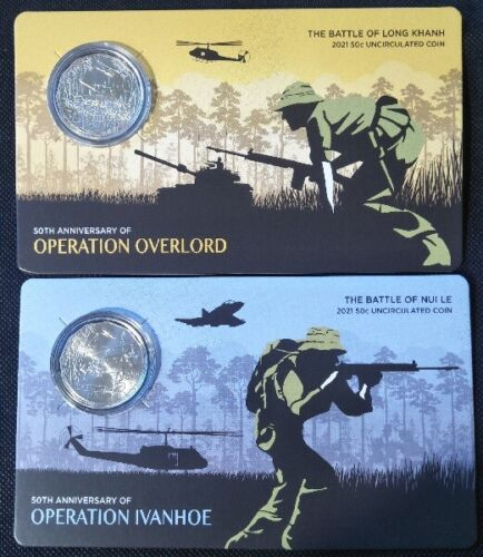 2021 2 x 50c - 50th Anniversary - Battles of Long Khanh and Nui Le