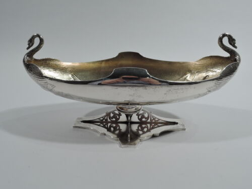 Whiting Bowl - 350A - Antique Japonesque Swan Bird - American Sterling Silver