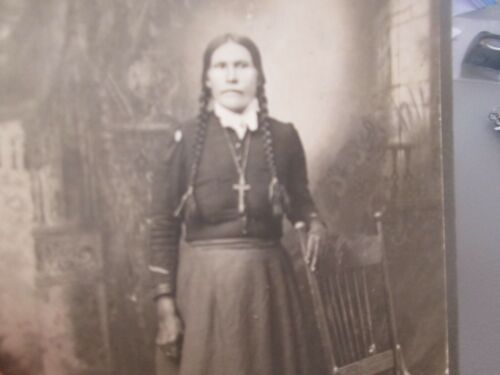 Antique  CABINET PHOTO  -   INDIAN  WOMAN   #28