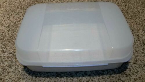Tupperware Square Modular Mate #2242 Gray Speckle Hinged Lid Rectangle Container