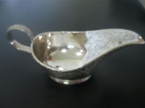 REAL - 1850 COIN SILVER - PAP BOAT   by   WOOD & HUGHES - EXCELLENT
