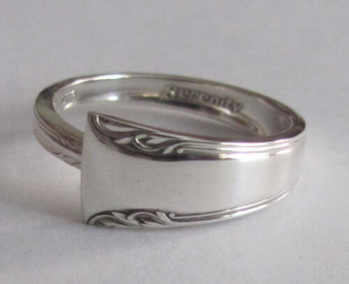 Sterling Silver Spoon Ring - International / Serenity - size 8 - 1940
