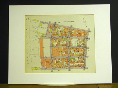 Brooklyn Map 1929 Matted N 1st S 1st-3rd S 1st-3rd KENT WYTHE BERRY GRAND RIVER
