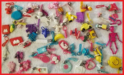 *Vintage 1980s Bell Charm Clips*  50 different Charms!