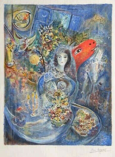 MARC CHAGALL- BELLA- FIRST EDITION LITHOGRAPH FACSIMILE SIGNED- ARCHES 1986