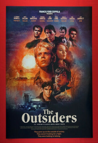 The Outsiders Youth Swayze Dillon Lowe Estevez Cruise Movie Poster 24X36    OUTS