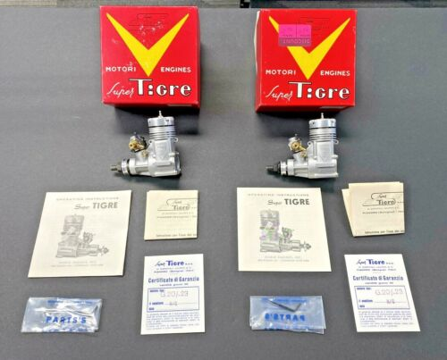 TWO Super Tigre G.20/.23 New in Box Glow Airplane Engines Box's - Instructions