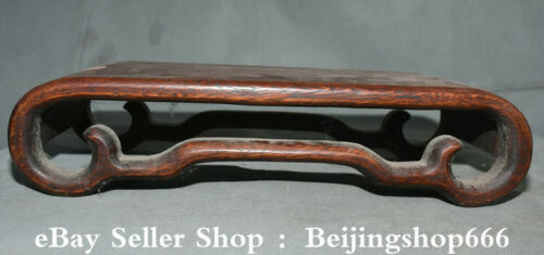 """15.4"""" Old Chinese Huanghuali Wood Carving Dynasty Classical Furniture Desk Table"""