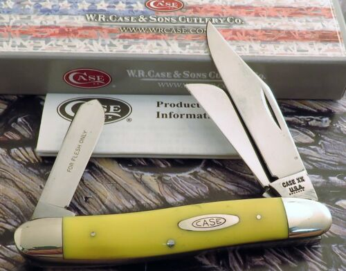 Case 3 Blade 3347 HP Stock Knife 1973 Carbon Blades Yellow Delrin 1 2 CARRY NR