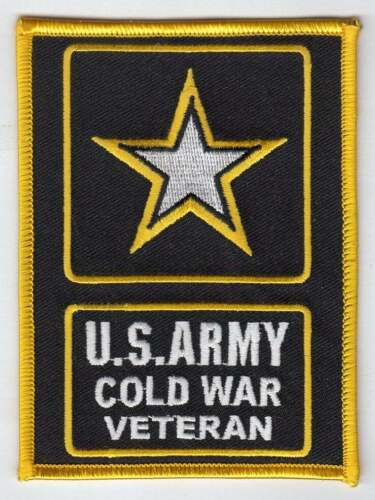 """U.S. ARMY COLD WAR VETERAN - ARMY STAR   4"""" X 5""""   embroidered patch"""