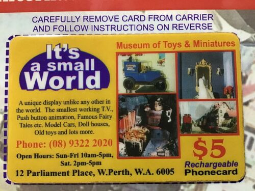 $5 TELEDATA, It's A Small World, West Perth. Rechargeable