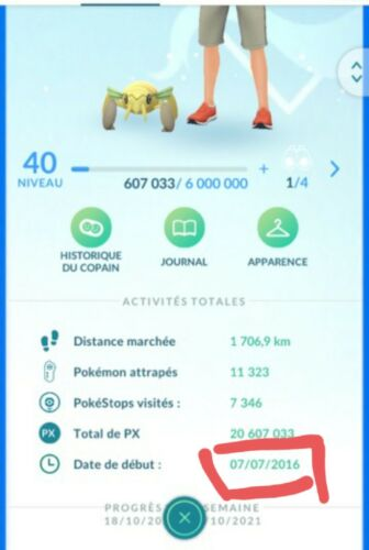 Old account2016 Pogo lv40 : 144shiny+238legend and many more (reade describe)