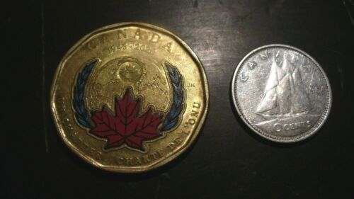 2020 CANADA UNITED NATIONS  COLORED $ 1  COIN / 1964  SILVER DIME