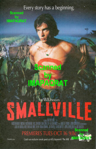 Smallville Series Premiere Sexy Shirtless Tom Wellings Superman Photo Print Ad