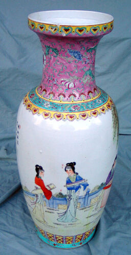 HUGE CHINESE LATE QING / REPUBLIC FAMILLE ROSE VASE