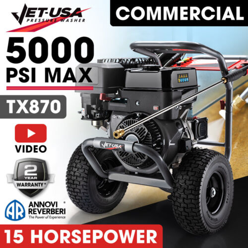 JetUSA 5000PSI 13HP Petrol-Powered High Pressure Cleaner Washer Commercial Water <br/> MADE FOR TRADE: World Class Performance and Reliability