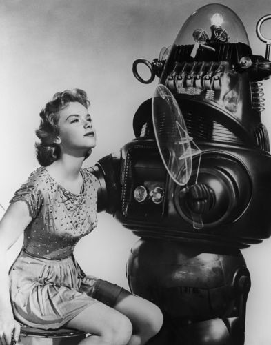 """Anne Francis, Robby the Robot Forbidden Planet Print 14 x 11"""""""