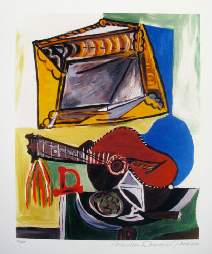Pablo Picasso STILL LIFE WITH GUITAR Estate Signed & Numbered Small Giclee