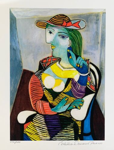 Pablo Picasso MARIE THERESE WALTER Estate Signed & Numbered Small Giclee Art