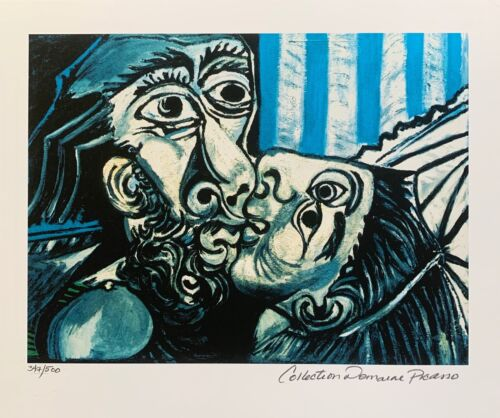 Pablo Picasso THE KISS Estate Signed & Numbered Small Giclee Art