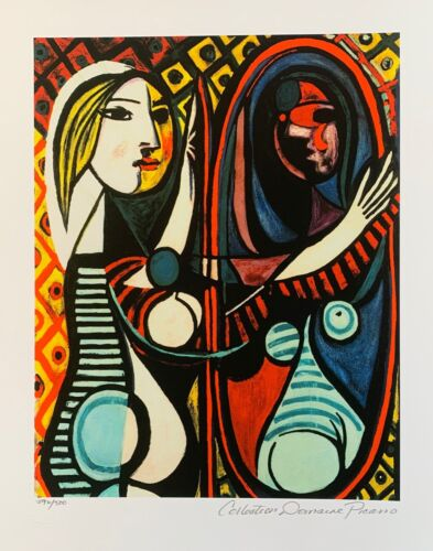Pablo Picasso GIRL BEFORE A MIRROR Estate Signed & Numbered Small Giclee Art