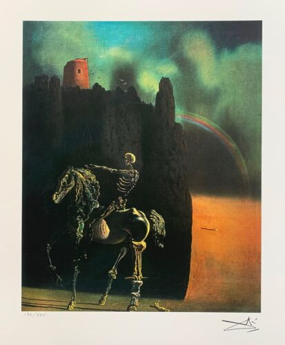 Salvador Dali HORSEMAN OF DEATH Facsimile Signed & Numbered Giclee Art