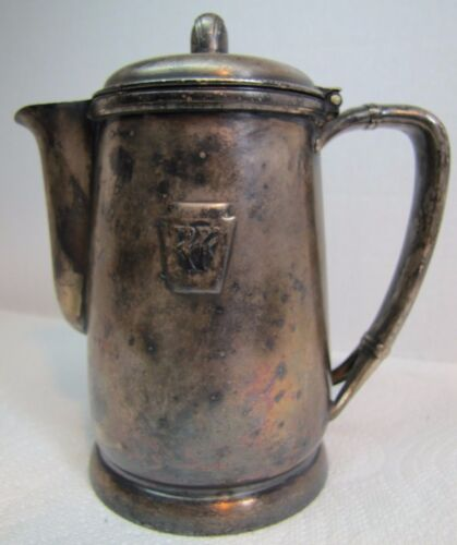 Antique PENNSYLVANIA RAILROAD Coffee Pot Creamer PRR Intl Silver Soldered 14oz