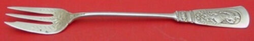 """Fontainebleau by Gorham Sterling Silver Cocktail Fork w/Brite-Cut Flowers 6"""""""