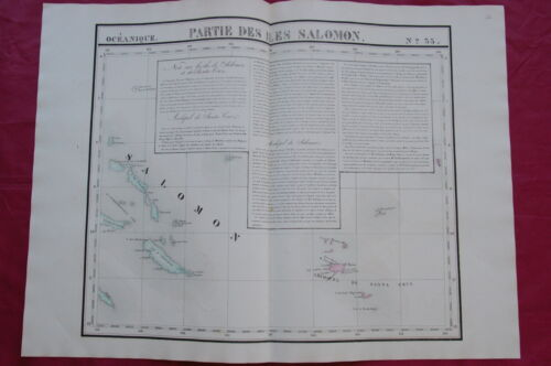 SOLOMON ISLANDS - historic map- SANTA CRUZ - MAKIRA - 1827