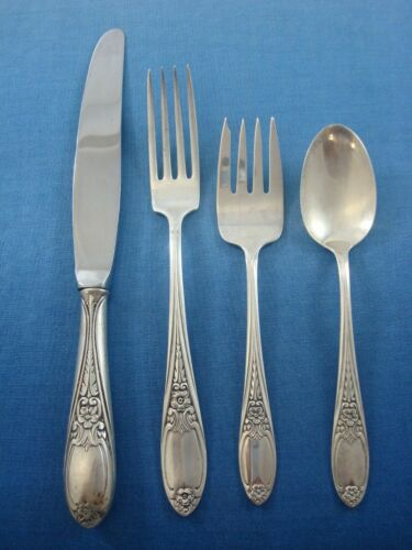 Colonial Rose by Amston Sterling Silver Regular Size Place Setting(s) 4pc