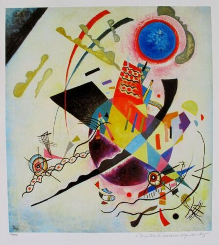 Wassily Kandinsky BLUE CIRCLE Estate Signed Limited Edition Giclee Art