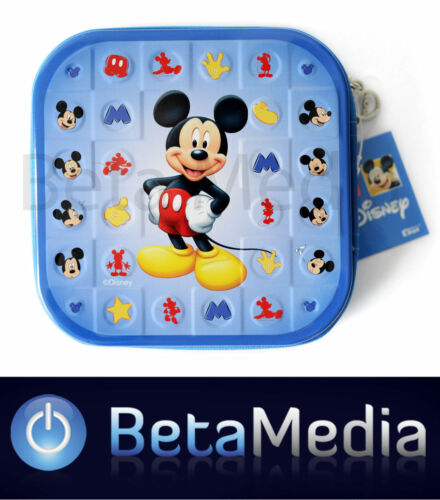 Disney Mickey Mouse CD / DVD Tin Storage Wallet Case Holds 24 discs