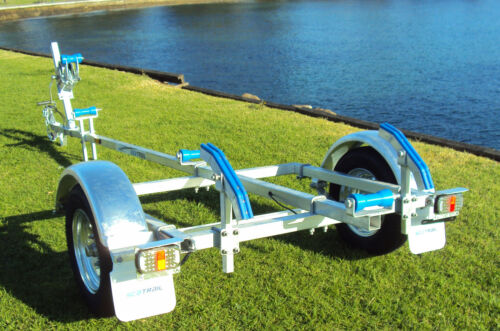 """SeaTrail Tinny 12, Galvanised, 12"""" Wheels (Suits small Tinny's/ Boats up to 4m)"""