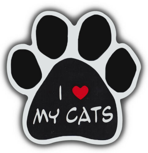 Cat Paw Shaped Magnets: I LOVE MY CATS | Cars, Trucks, Refrigerators