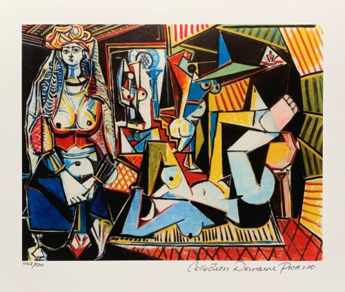 Pablo Picasso WOMEN OF ALGIERS Estate Signed & Numbered Small Giclee Art