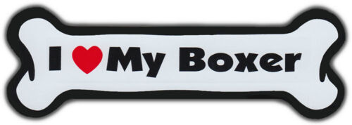 Dog Bone Magnet: I LOVE MY BOXER | Dogs Doggy Puppy | Car Automobile