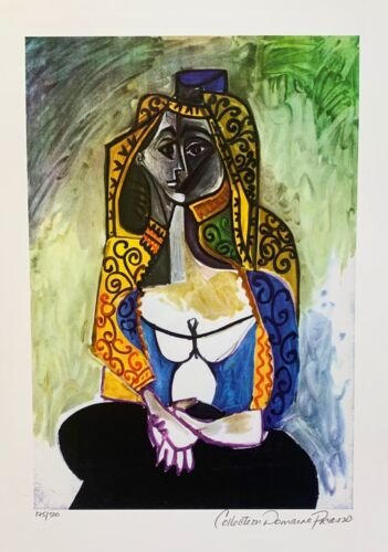 Pablo Picasso TURKISH SHAWL Estate Signed & Numbered Small Giclee Art