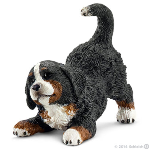 NEW SCHLEICH 16398 Bernese Mountain Dog Puppy Playing - Canine RETIRED