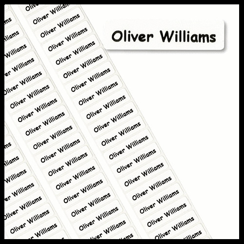 50 Peel & Stick Printed Property Name Labels/Tapes/Tags School