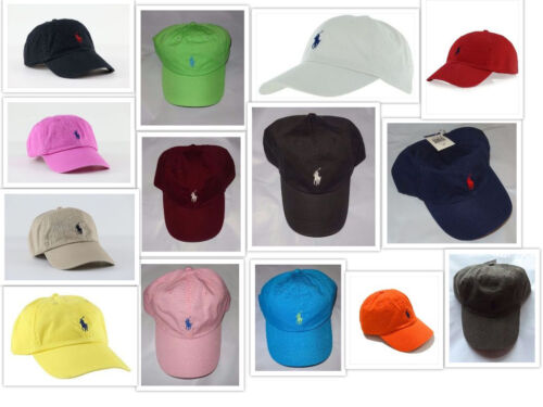 NWT New Polo Ralph Lauren Adjustable Strap Pony Logo Baseball Cap Hat 1 Size  <br/> 12,000 + AUTHENTIC HATS SOLD ~ 4 NEW COLORS JUST ADDED!