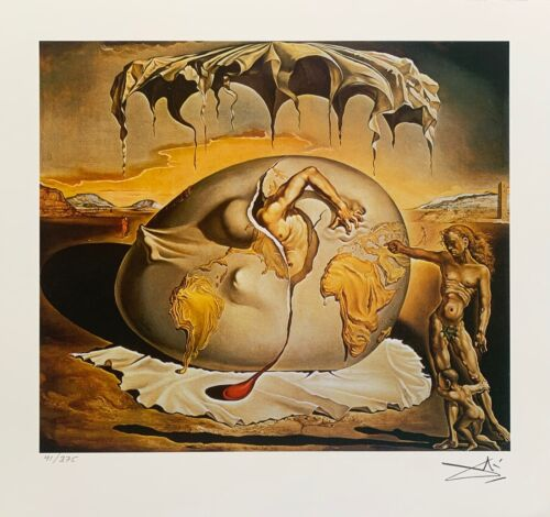 """Salvador Dali GEOPOLITICAL CHILD Facsimile Signed & Numbered Giclee Art 11"""" x12"""""""