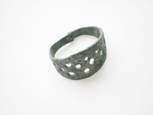 Great  ANCIENT Rare Viking Bronze FINGER RING   9-10 century AD