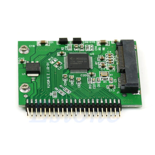 44 Pin IDE Converter Adapter as 2.5 Inch IDE HDD 5 Volt mSATA SSD For Laptop