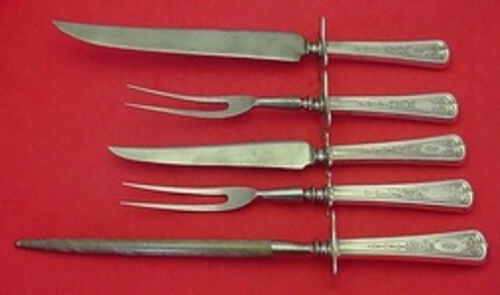 Lexington Engraved by Dominick & Haff Sterling Silver Roast Carving Set 5pc